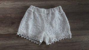 Vero Moda Shorts Hotpants Spitze Lace Offwhite Hippie Boho S