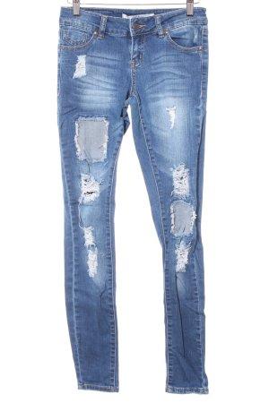 Vero Moda Skinny Jeans blau Bleached-Optik