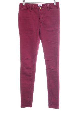 Vero Moda Jeans skinny rouge framboise style simple