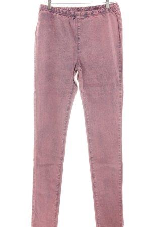 Vero Moda Skinny Jeans schwarz-neonpink Washed-Optik