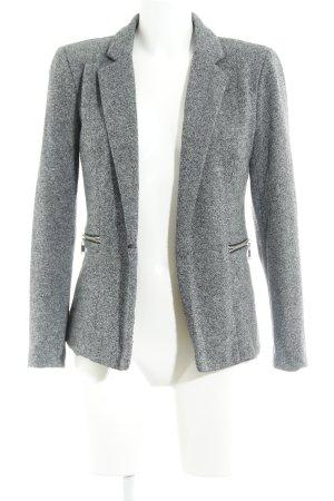 Vero Moda Smoking-Blazer grau-weiß meliert Casual-Look