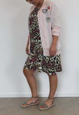 Vero Moda Sommer Kleid Animal Print Dress Leo Kleid mit Volant 38 40 NEU