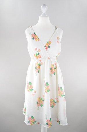 Vero Moda Sommerkleid Blumenmuster weiß Größe S