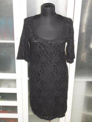 VERO MODA Spitzen-Kleid in schwarz Gr.40
