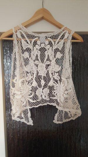 Vero Moda Cardigan en crochet blanc cassé