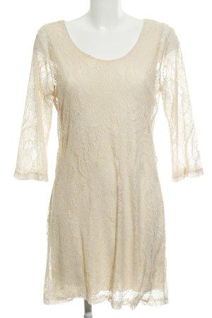 Vero Moda Robe en dentelle crème élégant