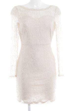 Vero Moda Spitzenkleid creme florales Muster klassischer Stil