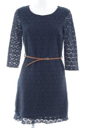 Vero Moda Spitzenkleid dunkelblau Romantik-Look