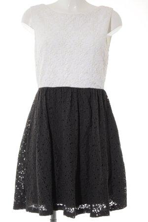 Vero Moda Spitzenkleid dunkelgrau-weiß Elegant