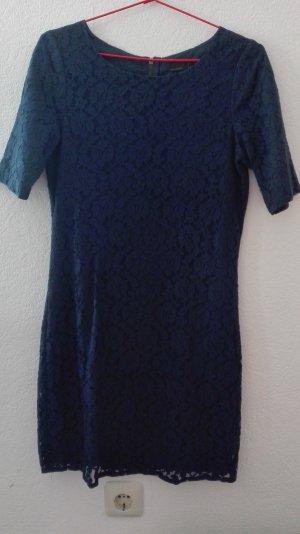 Vero Moda Vestido de encaje azul-azul oscuro