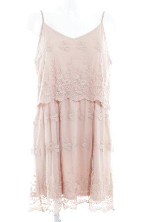 Vero Moda Spitzenkleid roségoldfarben florales Muster Beach-Look
