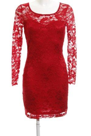 Vero Moda Vestido de encaje rojo estampado floral elegante