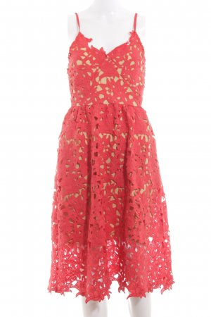Vero Moda Lace Dress red cable stitch casual look