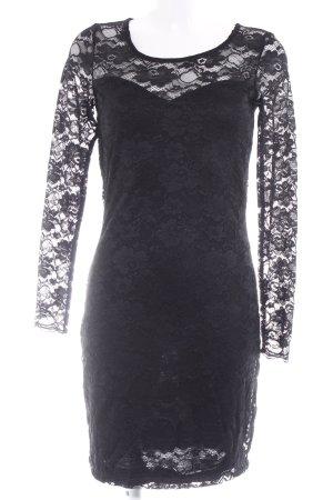 Vero Moda Spitzenkleid schwarz Blumenmuster Elegant