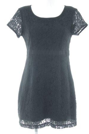 Vero Moda Lace Dress black floral pattern casual look