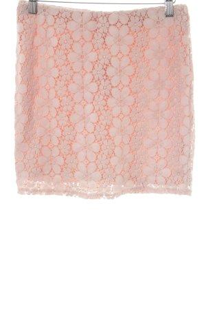 Vero Moda Spitzenrock rosé Casual-Look
