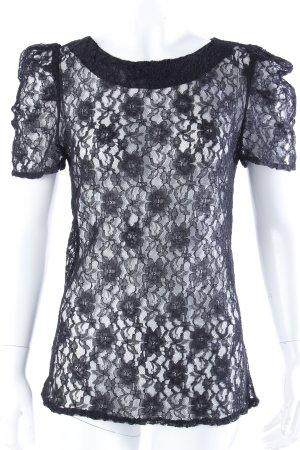 Vero Moda Spitzenshirt schwarz