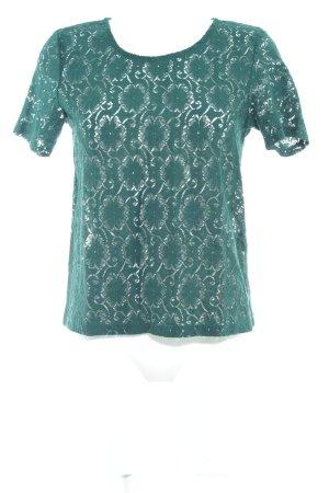 Vero Moda Top de encaje verde oscuro estampado floral Apariencia de encaje