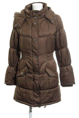 Vero Moda Manteau matelassé gris brun motif de courtepointe style décontracté