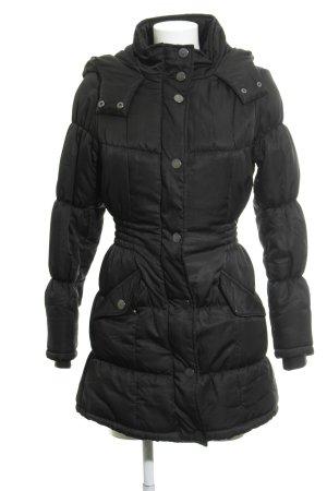 Vero Moda Manteau matelassé noir motif de courtepointe style décontracté