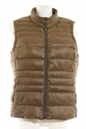 Vero Moda Quilted Gilet khaki quilting pattern casual look
