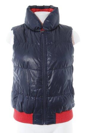 Vero Moda Steppweste dunkelblau-rot Casual-Look