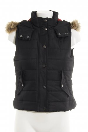 Vero Moda Quilted Gilet black quilting pattern casual look