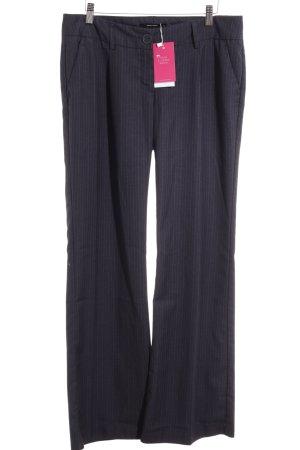 Vero Moda Stoffhose dunkelblau-hellgrau Nadelstreifen Business-Look