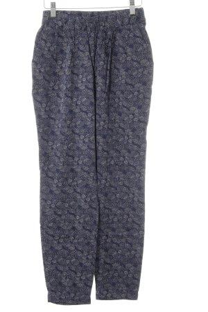 Vero Moda Stoffhose dunkelblau-rosé Punktemuster College-Look