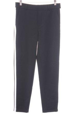 Vero Moda Pantalone jersey nero-bianco stile professionale