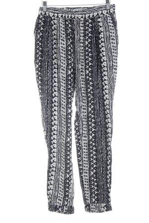 Vero Moda Stoffhose schwarz-wollweiß abstraktes Muster schlichter Stil