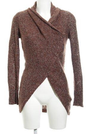 Vero Moda Strick Cardigan dunkelrot-wollweiß Casual-Look