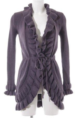 Vero Moda Strick Cardigan grauviolett Webmuster Casual-Look