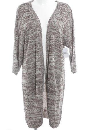 Vero Moda Strick Cardigan grauviolett-weiß meliert Casual-Look