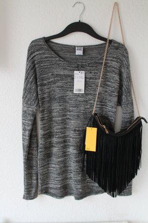 Vero Moda Strick Pullover grau meliert