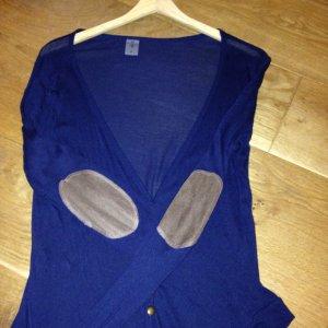 Vero Moda Strickjacke Gr. S dunkelblau mit Ellebogen Patches
