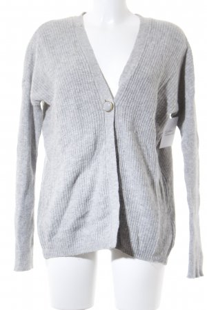Vero Moda Strickjacke hellgrau Casual-Look