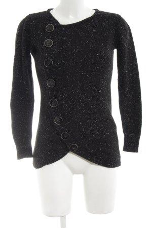 Vero Moda Strickpullover schwarz-weiß meliert Casual-Look