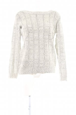 Vero Moda Knitted Sweater light grey-natural white cable stitch casual look