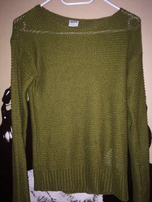 Vero Moda Pullover all'uncinetto verde oliva