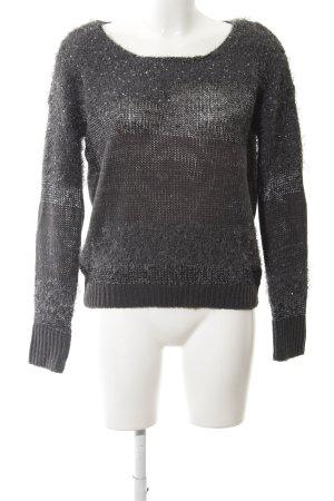 Vero Moda Strickpullover grau-silberfarben meliert Casual-Look