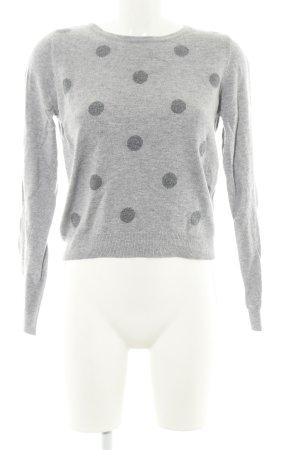 Vero Moda Pull tricoté gris clair-noir moucheté style décontracté