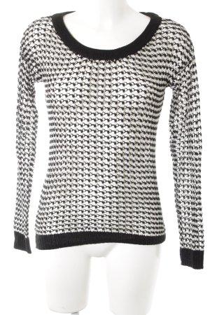Vero Moda Jersey de punto blanco-negro estampado a rayas look casual