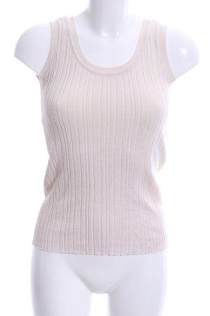 Vero Moda Top lavorato a maglia bianco sporco motivo a righe stile casual