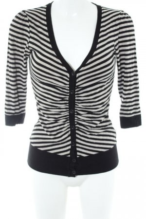 Vero Moda Strickweste schwarz-hellbraun Streifenmuster schlichter Stil
