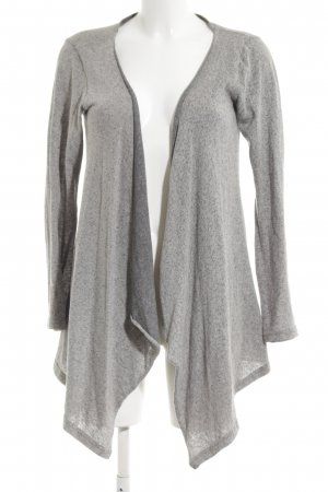 Vero Moda Knitted Wrap Cardigan light grey flecked casual look