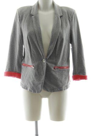 Vero Moda Sweatblazer hellgrau-neonrot Business-Look