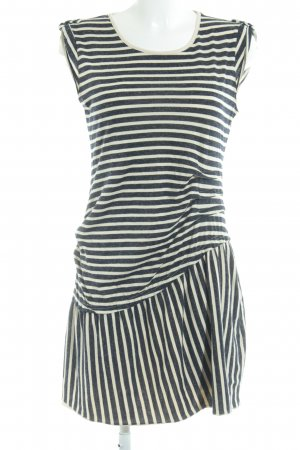 Vero Moda Sweatkleid dunkelblau-hellbeige Streifenmuster Casual-Look