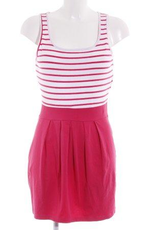 Vero Moda Sweatkleid weiß-ziegelrot Streifenmuster Casual-Look