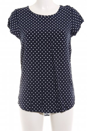 Vero Moda T-Shirt dunkelblau-weiß Punktemuster Casual-Look